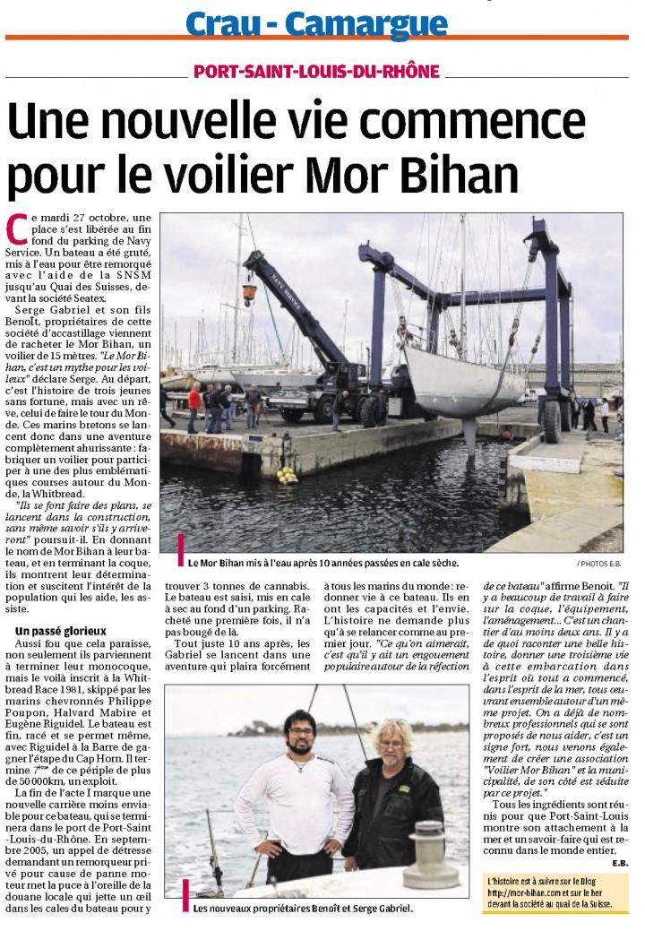 Le voilier Mor Bihan dans la Provence