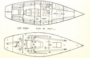 Plan de pont et intérieur Mor Bihan