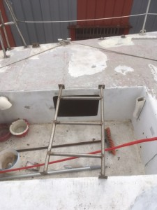 Voilier Mor Bihan rénovation echelle de barre
